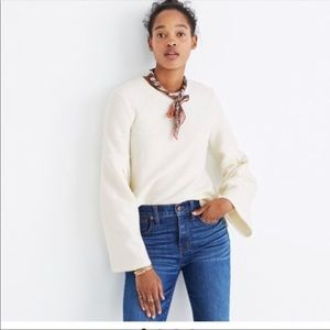 Madewell Pleat Sleeves Ribbed Top